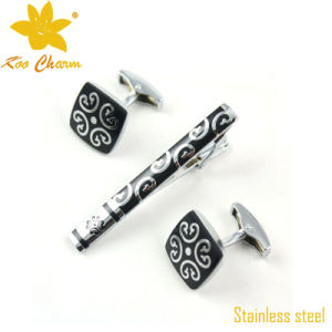 Tieclip-022 Fashion Stainless Steel with Enamel Bar Clips pictures & photos