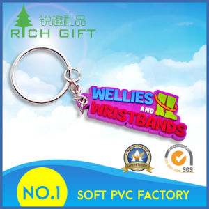 Delicate Soft PVC Keychain with Purple Color pictures & photos