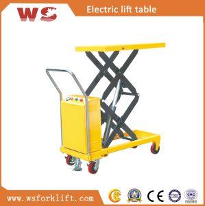 350kg Electric Scissor Lift Table Truck pictures & photos