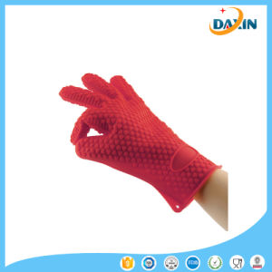 Silicone BBQ Grill Gloves Heat Resistant Best Oven Gloves Silicone Cooking Gloves pictures & photos