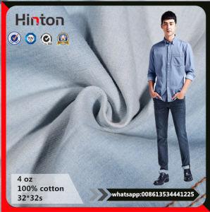 Light Blue Cotton Fabric Jeans Garment Denim Fabric pictures & photos