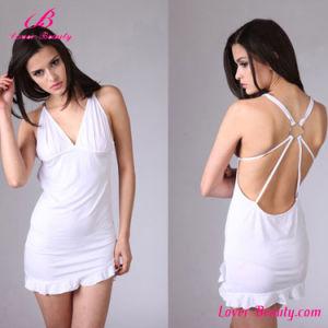 Hot Erotic White Mini Dress