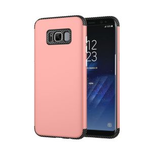 TPU+PC 2 In1 Carbon Fiber Phone Case for Samsung S8 Plus pictures & photos
