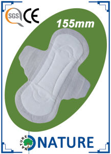 155mm Mesh Surface Mini Sanitary Pad for India Market pictures & photos