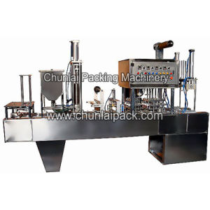 Automatic Plastic Cup Filling Sealing Machine pictures & photos