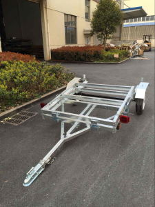 2017 Hot Dipped Galvanized 4X8 Folding Utility Trailer pictures & photos