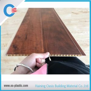 250*9mm Wooden PVC Panel Laminated Middle Groove Ceiling pictures & photos