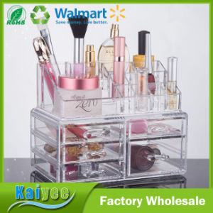 Large Drawer Type Transparent Combined Layer Cosmetic Storage Box pictures & photos