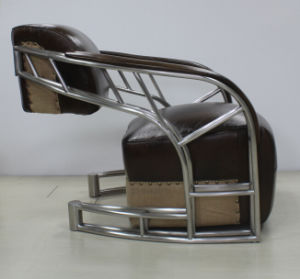 Vintage Brushed Stainless Steel Tube Armrest Living Room Chair Yh-317 pictures & photos