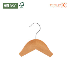 Hot Selling Supermarket Garment Usage Wooden Hanger for Wholesale (MC010) pictures & photos