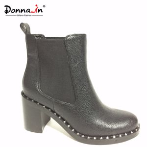 Lady Casual Studs Outsole High Heels Women Chelsea Footwear pictures & photos