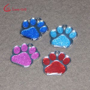 Factory Custom Glittery Paw Shaped Dog Tag for Sale pictures & photos