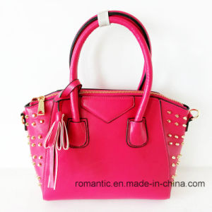 China Supplier Fashion Lady PU Printed Handbags with Rivets (NMDK-15009) pictures & photos