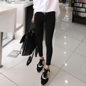 High Quality Water Wash Fashion Ladies Casual Jeans pictures & photos