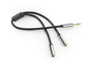 30cm One to Two Male to Female 3.5mm Audio Cable pictures & photos