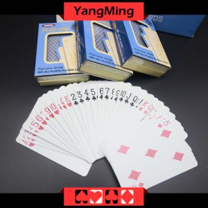 100% Plastic Poker Casino Playing Cards Japan Import PVC Red and Blue 2 Color Can Be Choice Ym-PC10 pictures & photos