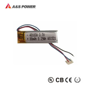 041030 Small Li-Polymer Battery Rechargeable 3.7V 80mAh pictures & photos