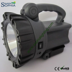 Rechargeable 10W CREE LED Torch and Flashlight with 5500mAh Swivel Stand pictures & photos