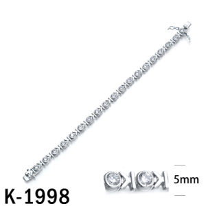 New Arrival 925 Silver CZ Tennis Bracelets pictures & photos
