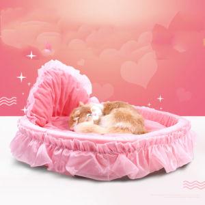 Royal Cute Princess Pink Bed Pet Sleep Sofa Cushion pictures & photos