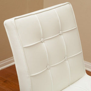 White Back Rest Leather Stainless Steel Dining Chairs (JK-B1014) pictures & photos
