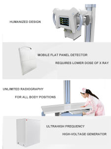 Ysx500d Hospital Medical Fixed 500mA 50kw Digital X-ray pictures & photos