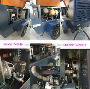 Diesel Engine Driven Portable Air Compressor in China 7.5m3 pictures & photos