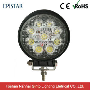 E-MARK 27W Round Epistar 4inch LED Work Light for Truck/Trailer (GT2009-27W) pictures & photos