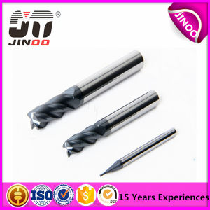 4 Flute Nano Coating Helix CNC Solid Carbide End Mill pictures & photos
