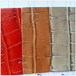 Crocodile PU Leather for Shoes, Bag (HW-1661) pictures & photos