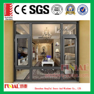 Hot Selling Double Tempered Glass Aluminum Alloy Window pictures & photos