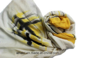100% Wool Hand Painted Shawl Ahy1000752 pictures & photos