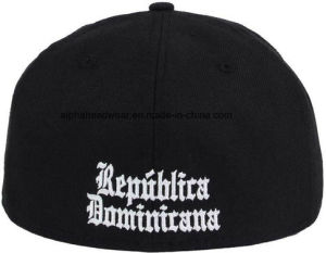 Adult Fitted Black Cotton Snapback Hat Cap with Grey Cotton Under Brim pictures & photos
