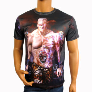 Sublimation Printing Men T-Shirt/Short Sleeve T-Shirt/ Heat Tranfer Printing T-Shirt pictures & photos