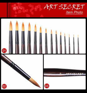 Nylon Hair High Quality Round Head Artist Brush pictures & photos