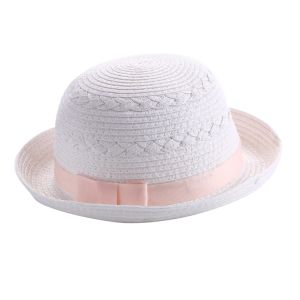 Girl′s Rounded Straw Hat pictures & photos