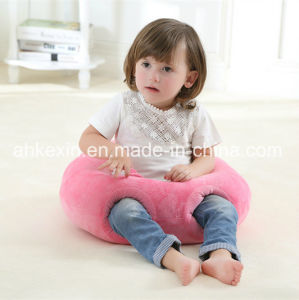 Round Plush Fabric Pink Baby Pillow with PP Cotton Filling pictures & photos