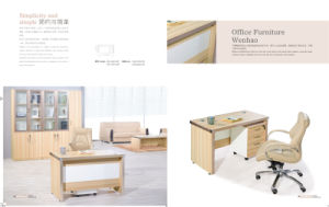 Simple Elegant Office Furniture Desk with Movieable Cabinet pictures & photos