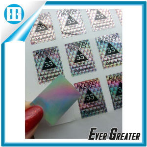Full Color Hologram Sticker Printed with Your Own Logo pictures & photos
