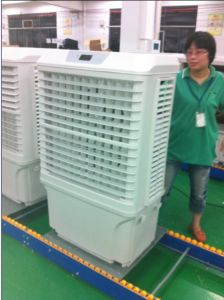 Mobile Evaporative Air Cooler with Axial Fan and Cooling Pad (JH168) pictures & photos