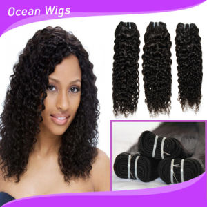 Long Lasting Cheap Virgin Curly Wave 100% Brazilian Weaving Hair pictures & photos