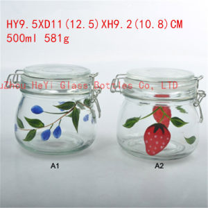 Glass Seal Jar Storage Food Jar Glass Food Jar 500ml