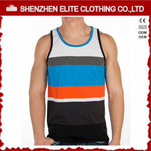 High Quality Men Fitness Printing Cotton Strip Tank Tops (ELTMBJ-449) pictures & photos