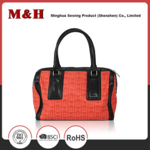Red PU Tote Shopping Bag Women Handbags Leather Travel Tote Bag pictures & photos