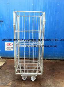 Warehouse Four Sides Logistic Storage Rolling Container pictures & photos