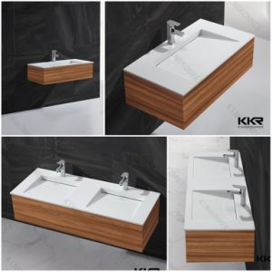 Sanitaryware Acrylic Stone Resin Bathroom Wall Hung Washbasin (B1706051) pictures & photos