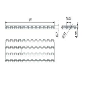 Flat Top Modular Conveyor Belts (WZ-1905-1) pictures & photos