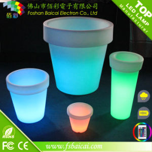 Hot Selling Outdoor Waterproof LED Flower Pot Restaurant Flower Pot