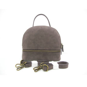 Mini PU Leather Women Backpack Lady Shoulder Bag pictures & photos