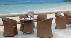 Panama Style Outdoor Furniture Rattan Table and Chair pictures & photos